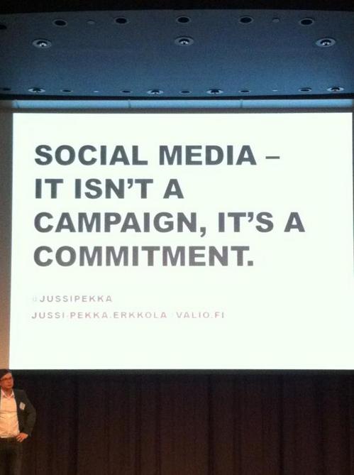 Social Media is niet eenmalig