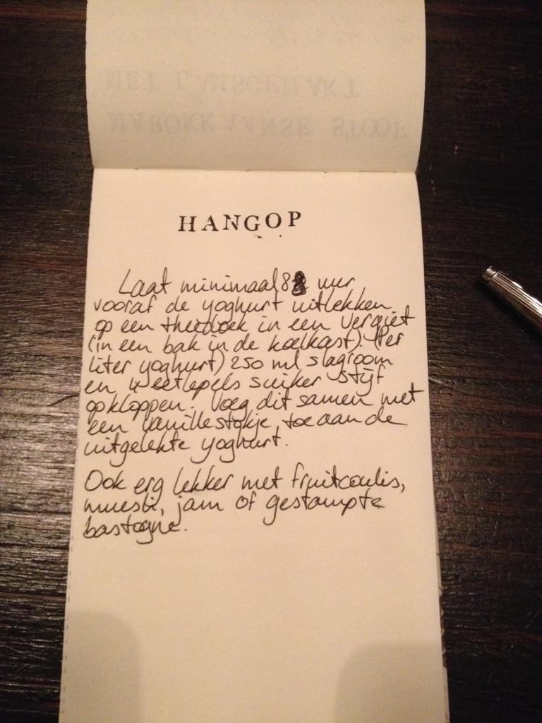 Hangop recept HvanHeleen